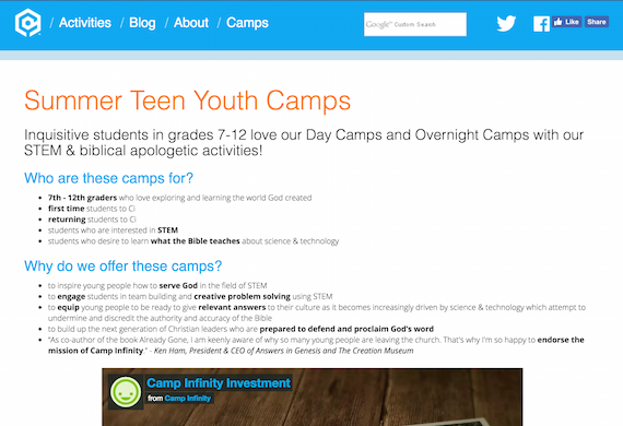 Camp Infinity Youth Camps