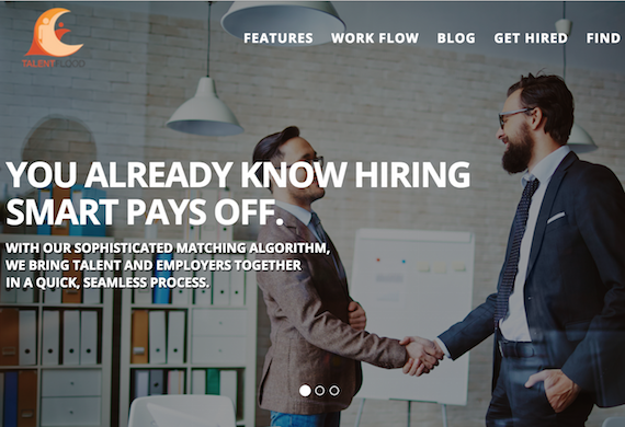 Marketing site banner showing HR hiring best candidate